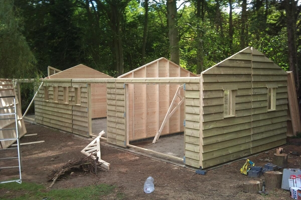 Featheredge Double Garage