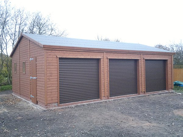 Triple Wooden Garages Trusted Uk Supplier For 19 Years