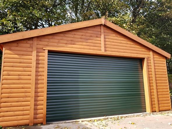 18×18 Single Wooden Garage
