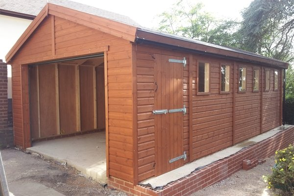 20x10 single timber garage with optional electric roller door With 20x10 garage door