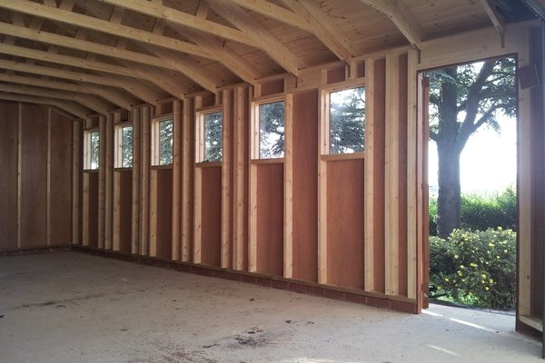 20x10 Single Timber Garage With Optional Electric Roller Door