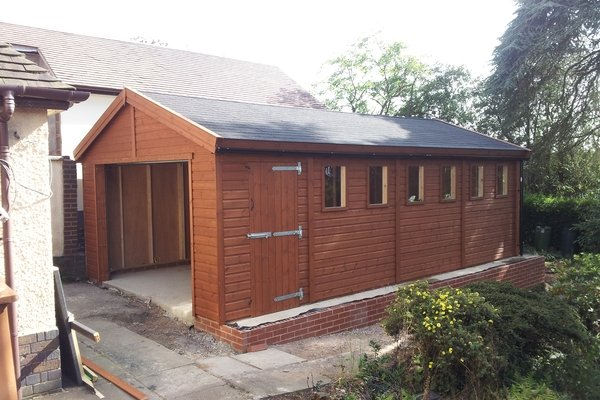20×10 single timber garage