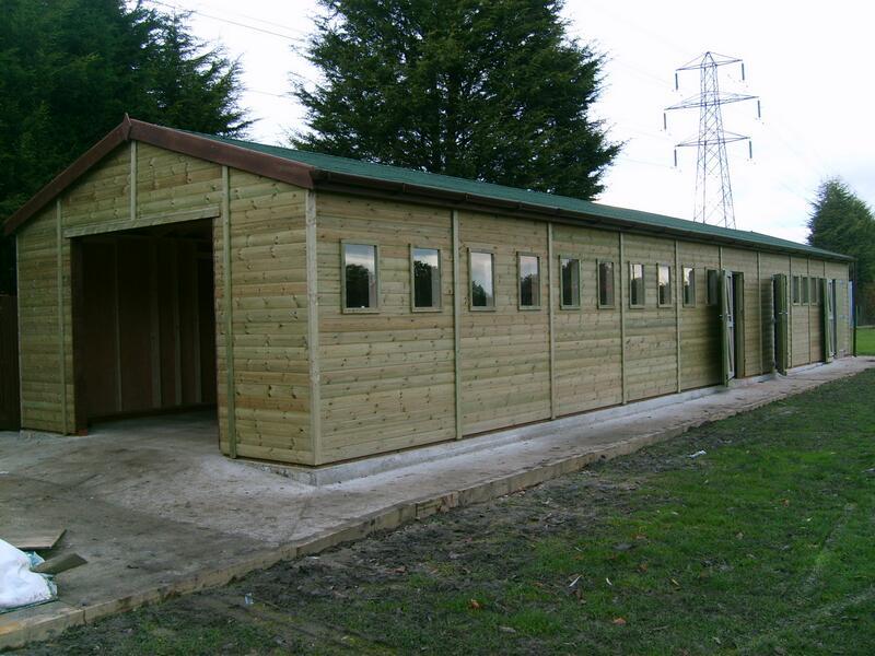 Large wooden garage