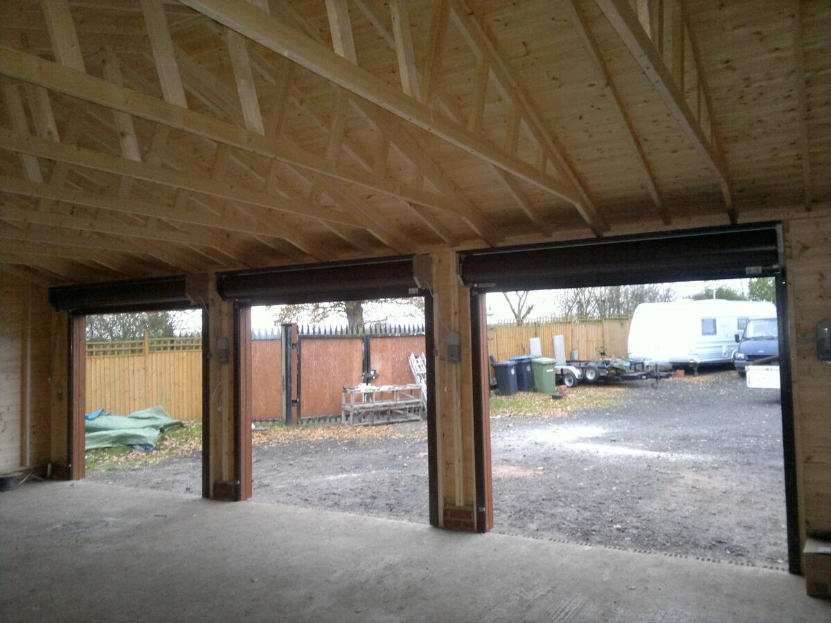 Triple Wooden Garage
