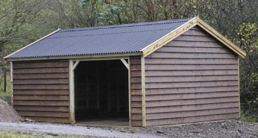 20 x 16 feather edge clad wooden carriage house garage