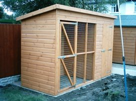 10ft x 4ft dog kennel with run