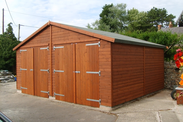 Wooden double garage 20x16 other sizes available to order - Double wooden garage doors ...