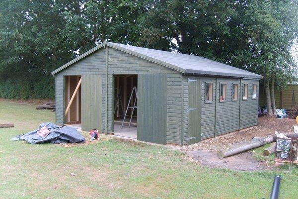 20×20 Double Wooden Garage