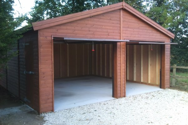 Double Garage With Up And Over Doors