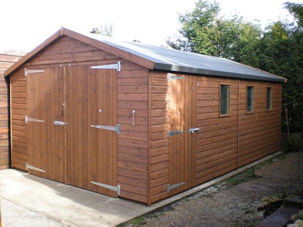 20x10 wooden garage for 20x10 garage door