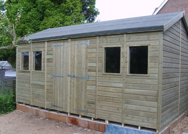 14 x 10 Timber Workshop with Doors on Side