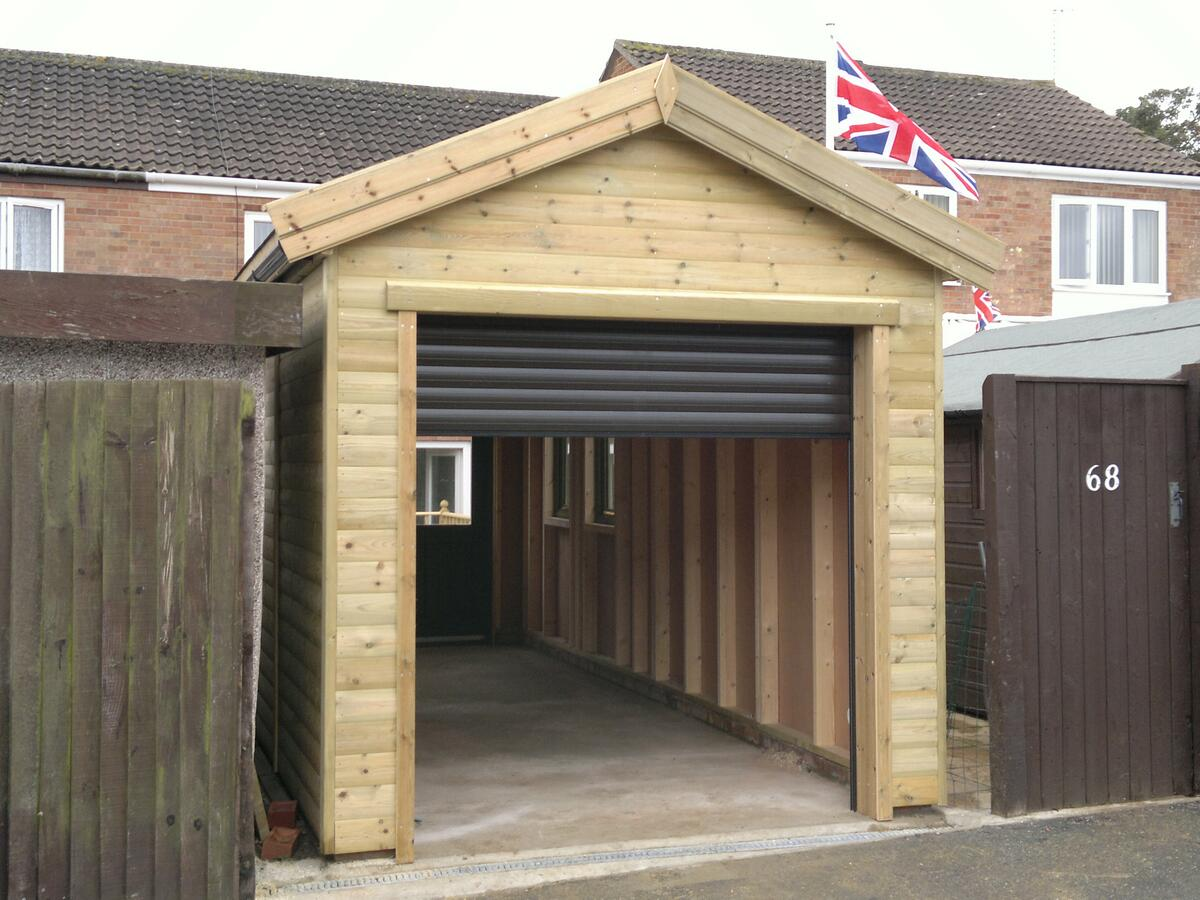 Single garage for How wide is a single car garage door