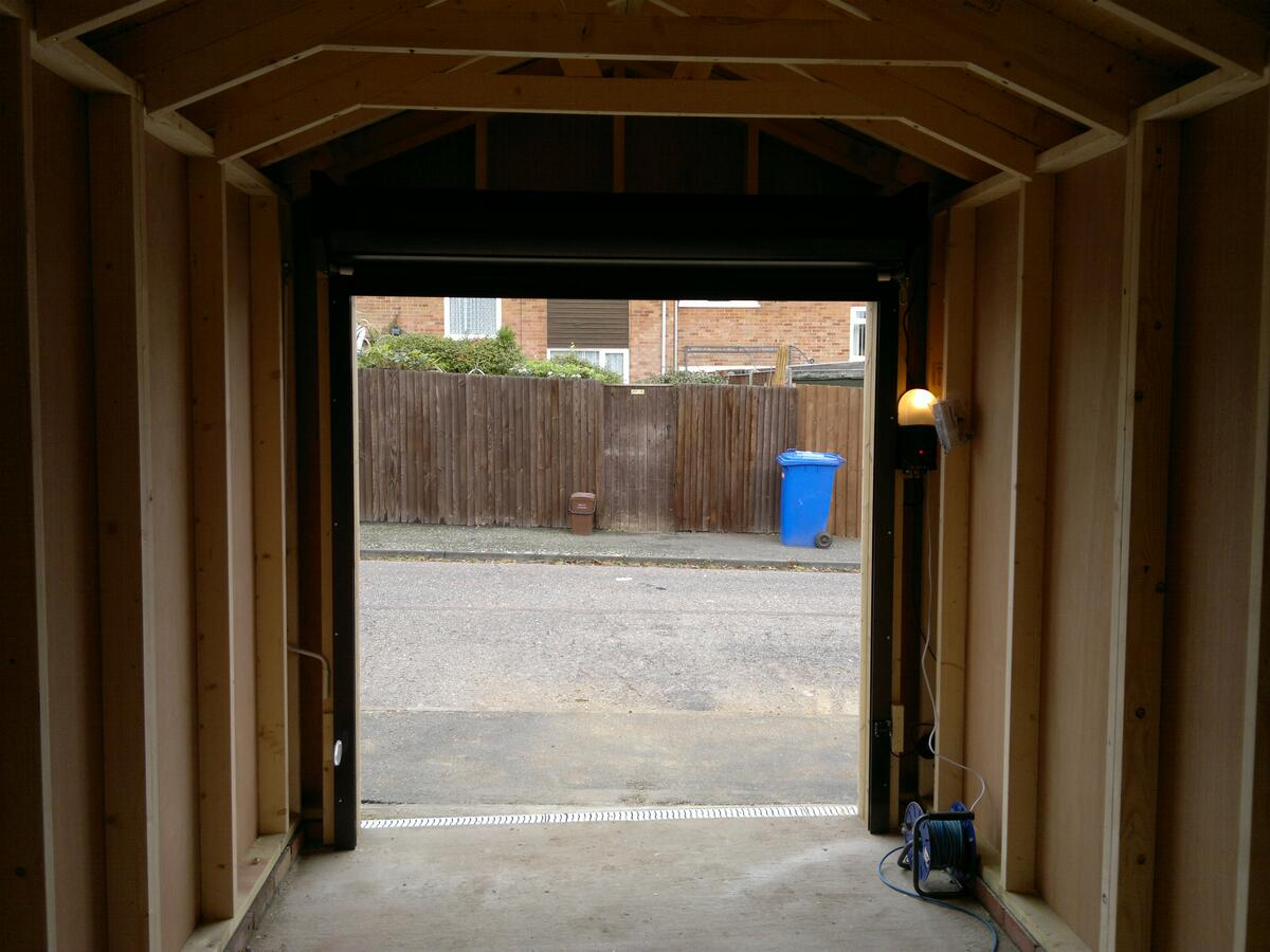 How wide is a double garage door double garages wide span for How wide is a single garage door