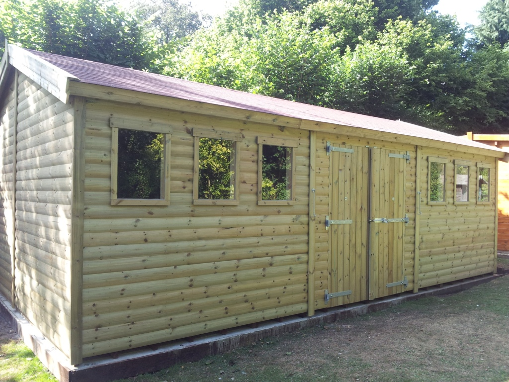 22x12 Building 32mm Tanalised Log Lap Wall Cladding