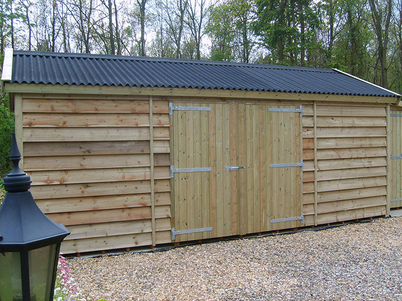 featheredge boarded work shed