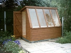 10 x 8 potting shed with standard door and windows
