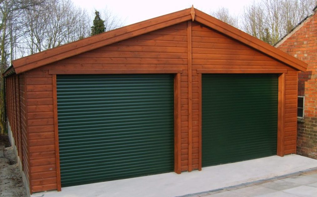 40 x 20 Green roller door double garage