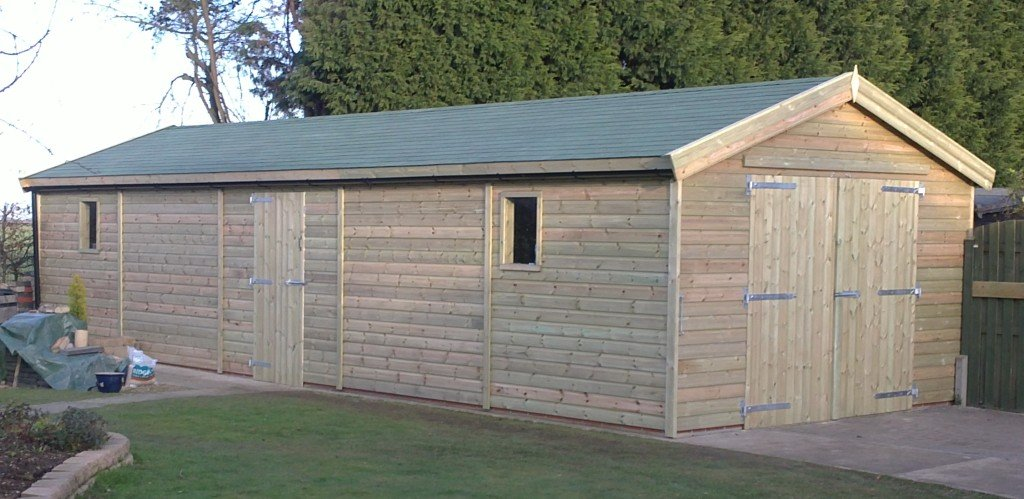 Large sheds bespoke made direct from uk manufacturer any size for Large garden buildings