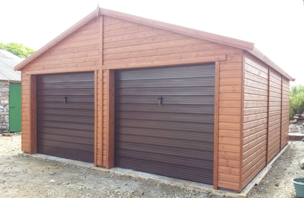 18x20 Garage Addition : Double garage with up and over doors regency timber