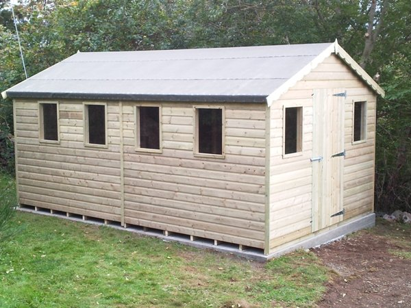 Tanalised treated work shed