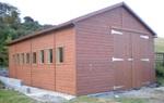 Extra height garage with offset door