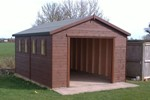 20 x 10 plus fabric and ply lining to external walls