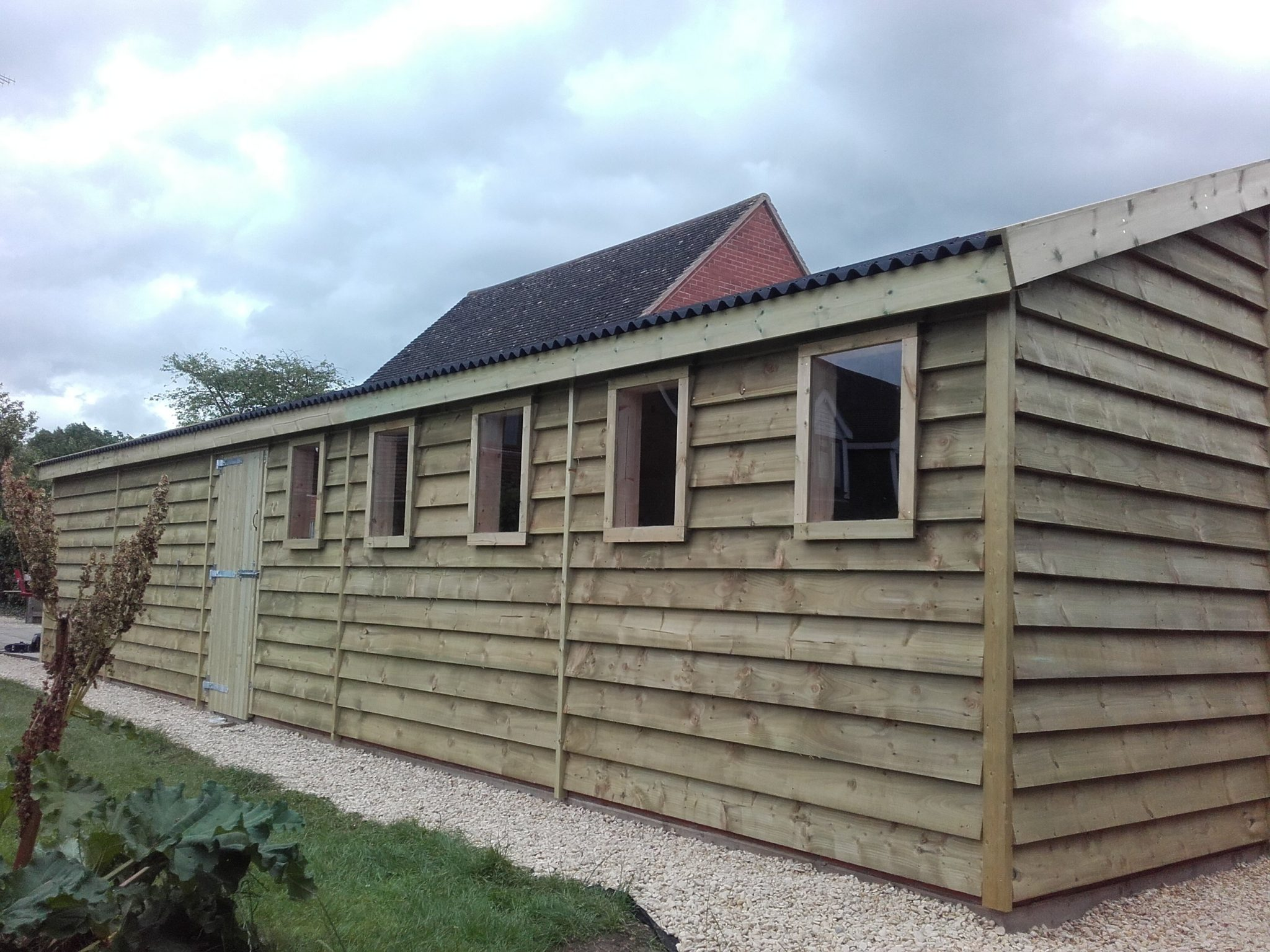 12m long x 4m Wide Feather Edge Garage